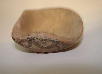 RARE PAINTED!  BRONZE AGE OIL LAMP TIME ABRAHAM-MOSES! 2000BC Bible archaeolgy