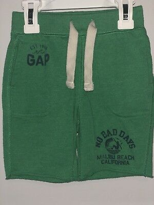 Boys Baby Gap Green Knit Pull On Shorts, Size 12-18 Months
