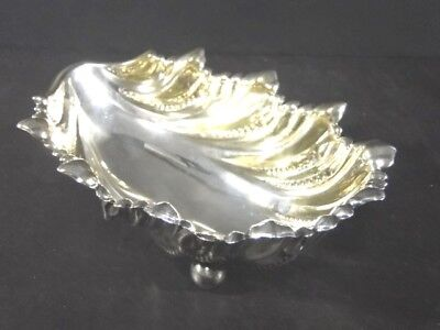 Victorian GORHAM 1892 Large Sterling Silver Footed Shell Scalloped BOWL