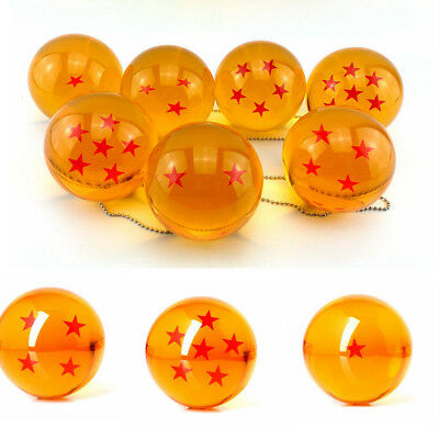 New 7pcs JP Anime DragonBall Z Stars Crystal Ball Collection Set with Gift