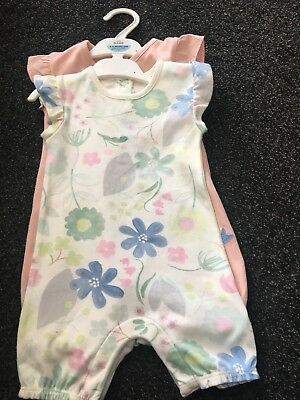 M&s Baby Girls Romper Suits 6-9 Months Next Day Post