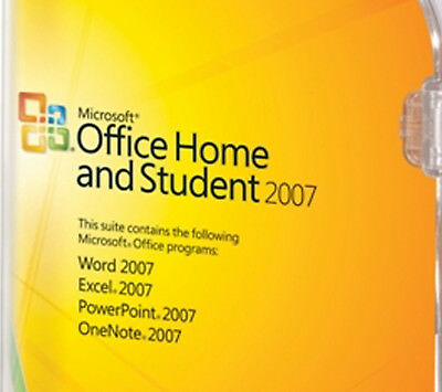 Office 2007 Home and Student für 3 PCs -  Microsoft Vollversion mit CD Deutsch