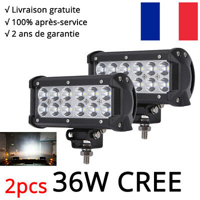 4x42w rond phares longue port e led 12v 24v atv tracteur 4x4 offroad camion moto eur 55 00. Black Bedroom Furniture Sets. Home Design Ideas