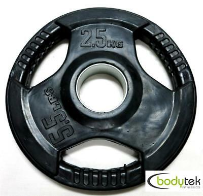 2.5Kg Olympic 51mm Rubber Weight Weights Plate Tri Grip Fitness Gym Barbell