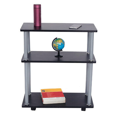 3 Tiers Rolling Printer Cart Machine Stand Portable Office Table Four Wheel
