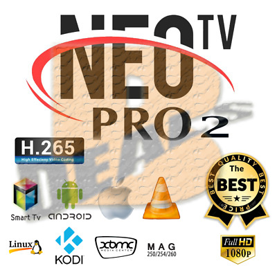 ✅ NEO TV PRO 2  neotv EUROPE ARABE VOD M3U Android  Mag smart tv stb pc 12M