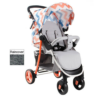 My Babiie Coral Chevron  *billie Faiers Collection** Baby Pushchair Stroller