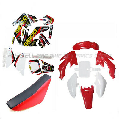 Plastics Fender Stickers Black Seat  For Honda CRF50 XR50 Pit Dirt Bike Black