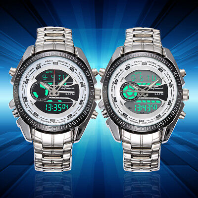 Mens Waterproof Analog Quartz Stainless Steel Watch Fashion Wrist Luxury