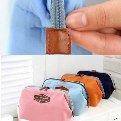 Multifunction Purse Box Travel Makeup Cosmetic Bag Toiletry Case Solid Color