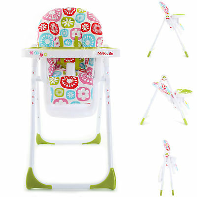 New My Babiie Mbhc8 Compact Highchair Floral Baby Feeding Adjustable Highchair