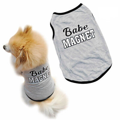 New Fashion Pet Dog Clothes T-Shirt Puppy Cat Vest Apparel Baby Magnet Costumes