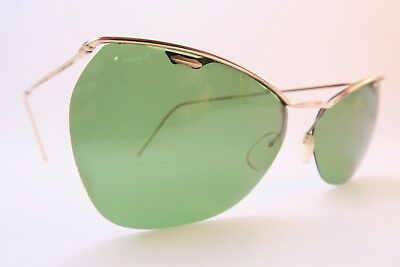 Vintage 50s sunglasses gold filled SOL AMOR green lens made in France