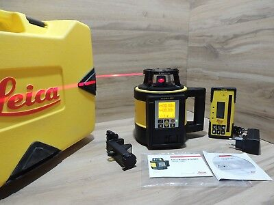 Leica Rugby 880 Dual Grade Self Levelling Rotating Laser Level Excellent