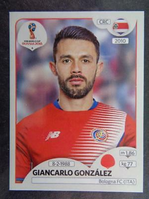 PANINI STICKERS FOOTBALL coupe du monde 2018 RUSSIA Nº 393 CRC Costa Rica équipe image NEUF