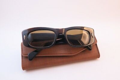 Vintage 50s sunglasses Optica original brown tinted glass lens Germany *****