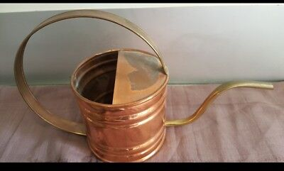 Vintage Old Brass & Copper Watering Can