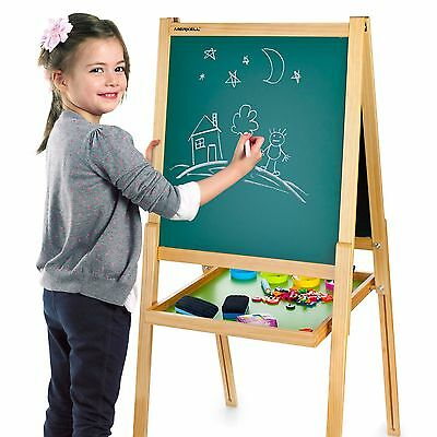 Deluxe Double-Sided Black & White Board Easel & Accessories