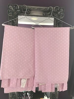 Pink Next Polka Dot Curtains