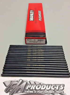"""Manley 25722-16 Swedged End 8.100/"""" Long .080/"""" Wall 5//16/"""" 4130 Push Rod Set Of 16"""