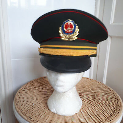 Chinese / Pla Mans Peaked Hat And Badge Size 56