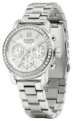 9d6a1b1d9f360 Coach 14501882 Legacy Sport Silver Dial Stainless Chronograph Women s Watch