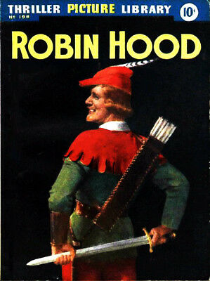 THRILLER PICTURE LIBRARY No.198 -  ROBIN HOOD -  Facsimile