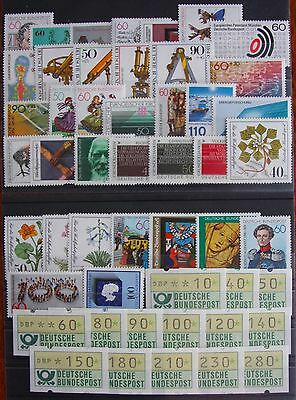Germany Complete Year 1981 Stamp Set + ATMs MNH German Stamps Mint Never Hinged