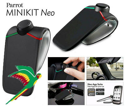 Parrot Minikit Neo Hands Free Bluetooth Car Kit For Mobile Phones