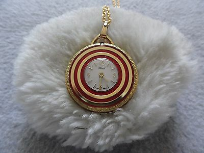 Vintage Swiss Made Ferel Wind Up Necklace Pendant Watch