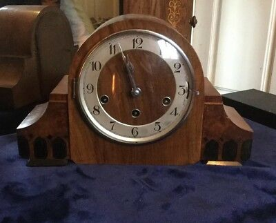 Art Deco Haller Mantle Clock, Westminster or Whittington's chimes, circa 1930s