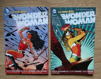 Wonder Woman by Brian Azzarello Cliff Chiang books 1 and 2 Blood and Guts