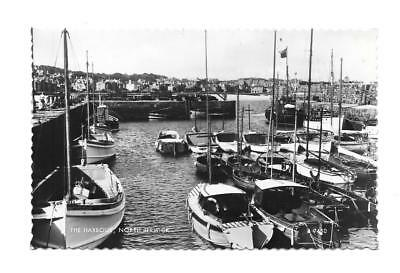 North Berwick - The Harbour - Old Real Photo Postcard - East Lothian, Scotland