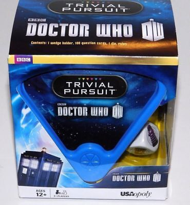 DOCTOR- WHO- TRIVIAL- PURSUIT- Game- USAoploly- 50 -year- celebration-