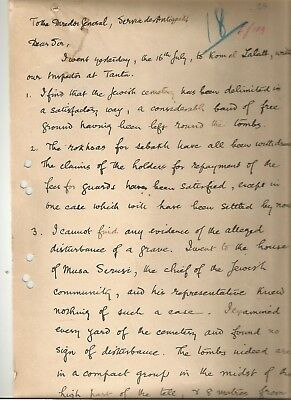 EGYPT ÄGYPTEN 1903 RARE LETTER ABOUT TOMBS SIGNED BY UK James Quibell