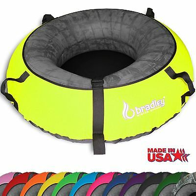 Heavy Duty Colossal Snow Sled Tube w/Neon Yellow Cover Rubber Inner Sledding