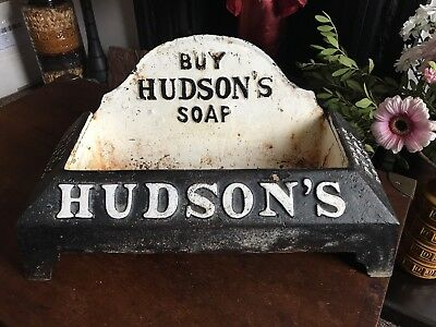 Hudsons Soap Cast Iron Advertising Trough Or Bowl