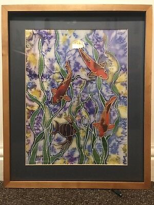 Framed Silk Painting By Sharon Richardson