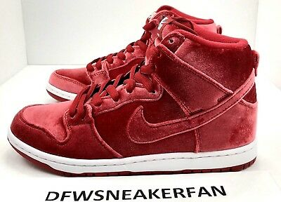 pretty nice dfb86 f9a29 Nike Dunk High Premium SB Red Velvet Gym Red Size 9.5 NEW 313171-661  Christmas