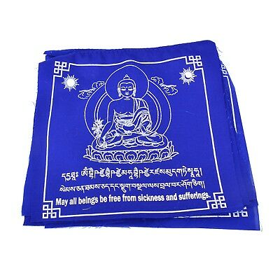 Blue Medicine Buddha Prayer Flag (set of 10)
