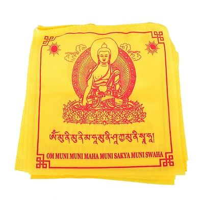 Yellow Medicine Buddha Prayer Flag (set of 10)
