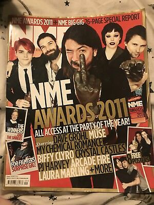 NME Magazine MY CHEMICAL ROMANCE FOO FIGHTERS cover March 2011 awards special