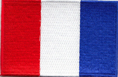 FRANCE FLAG Iron On Embroidered Patch Flag of France French