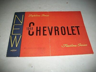 1949 Chevrolet Fleetline Passenger Car Sales Brochure Canadian Issue