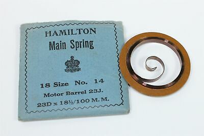 HAMILTON 18 SIZE POCKET WATCH MAINSPRING Part no. 14 - GR402