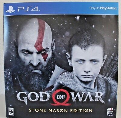 God of War Stone Mason Collectors Edition Playstation PS4 New/Sealed Full Game