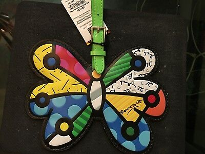 ROMERO BRITTO Butterfly Luggage Tag New w/Tags SHIPS FREE SAME DAY