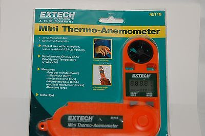 Mini Thermo-Anemometer Extech Instuments 45118 - New!