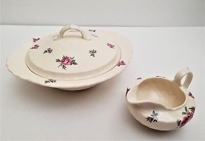Burleigh Ware lidded serving bowl and gravy boat, Burgess & Leigh