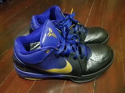 f79e29a262035 Nike Zoom Kobe IV 4 Gradient Purple Black Size 10.5 Lakers Undefeated 344335  073